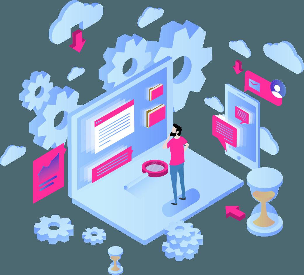 illustration de logiciels informatiques REX ROTARY