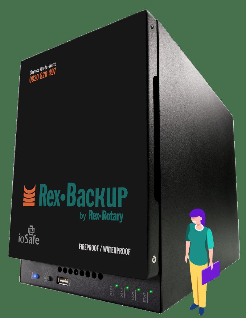 Materiel informatique professionnel pour sauvegarde de donnees REX ROTARY