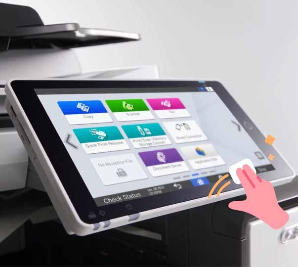 écran tactile copieur