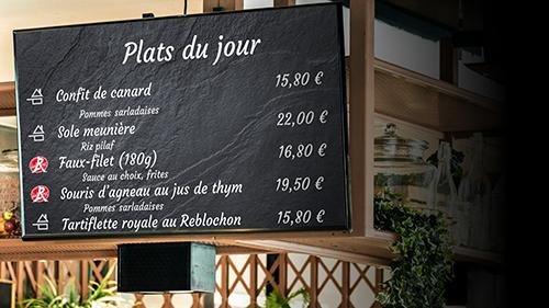 affichage interactif restaurant