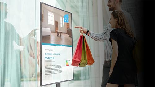 slysignage écran interactif immobilier