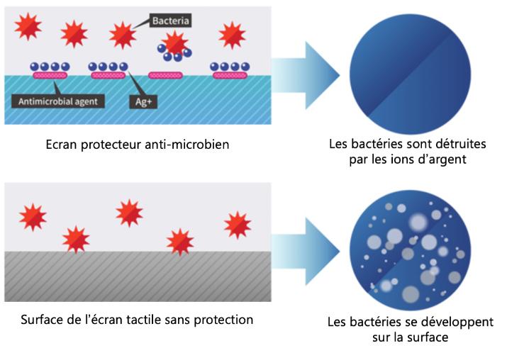 schema film anti-bactérien
